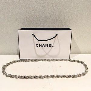 CHANEL Silver Chain Belt